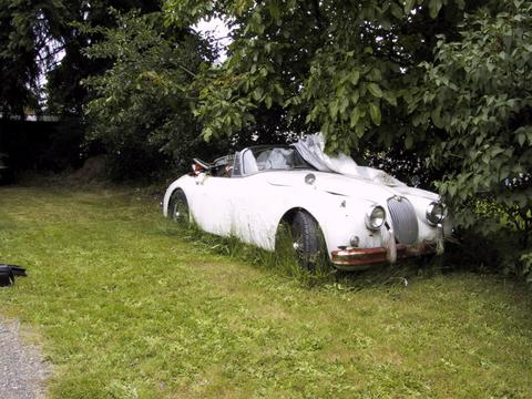 BARN FIND Ricardo Montalbans Lost Jaguar XK150 Convertible